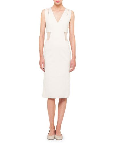 Sleeveless Tulle-Waist Dress