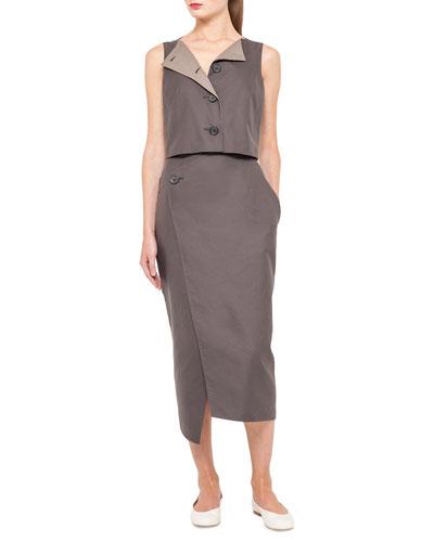 Asymmetric Button-Top Dress