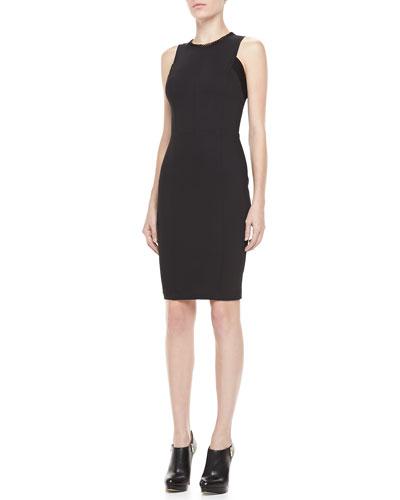 Sleeveless Fitted Zip Dress
