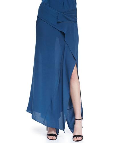 Ankle-Length Scarf Skirt