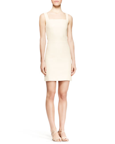 Gwenna Fitted Leather Dress, Cord