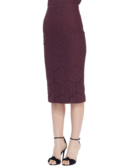 05f0298121 Burberry London Midi Lace Pencil Skirt