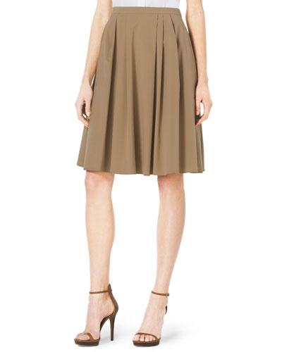 Pleated A-Line Dance Skirt
