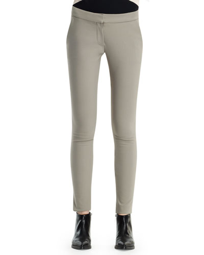Ivy Cotton-Stretch Pants, Clay