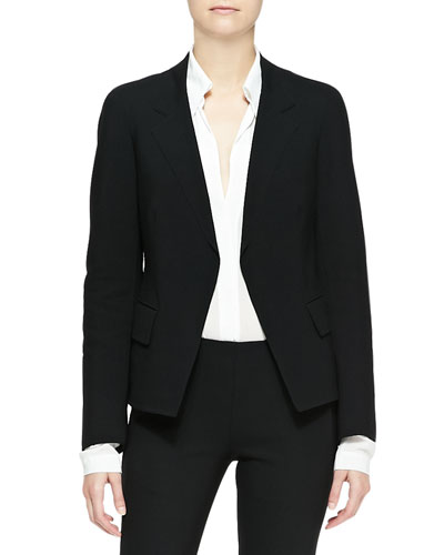 Long-Sleeve Boyfriend Jacket with Lapels