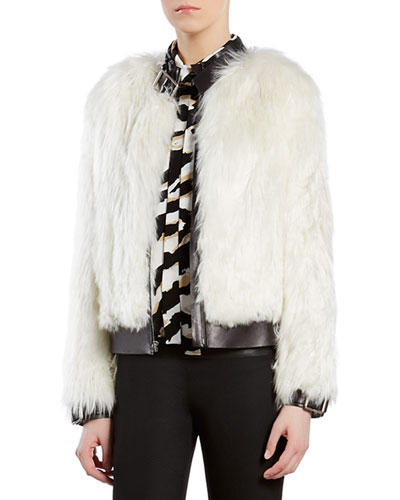 Alpaca Fur Biker Jacket