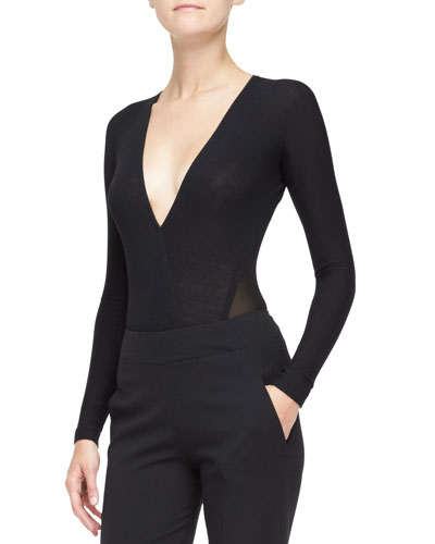 Long-Sleeve V-Neck Bodysuit