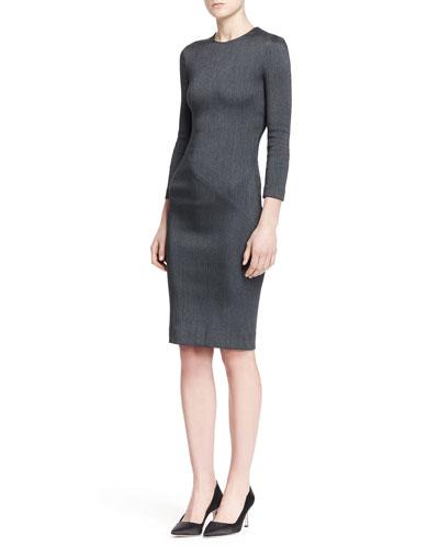 Drista Long-Sleeve Satin Dress