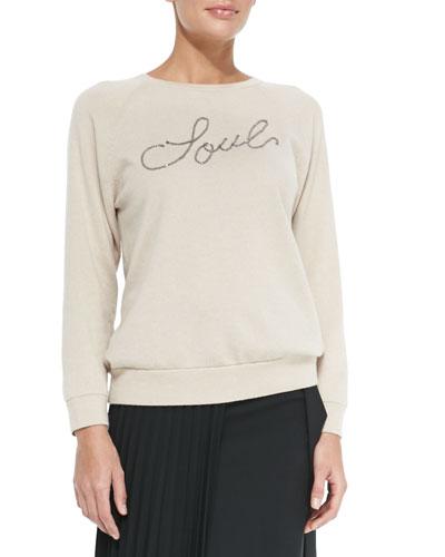 2-Ply Cashmere Monili Soul Sweater