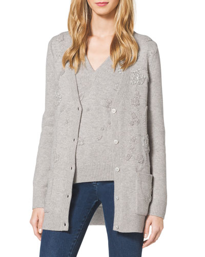 Embellished Cashmere Knit Cardigan