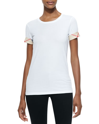 Short-Sleeve Long Tee, White