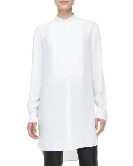 3ab3a35d4901 Ralph Lauren Black Label Calgary Long-Sleeve Silk Tunic