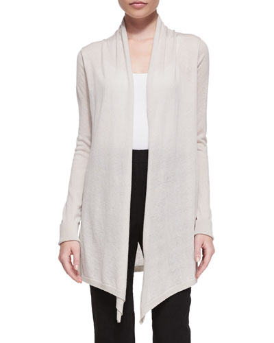 Cashmere Draped-Front Cardigan