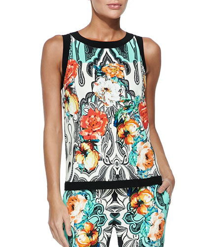 Dhely Rose-Print Top
