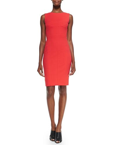Sleeveless Harness-Back Sheath Dress