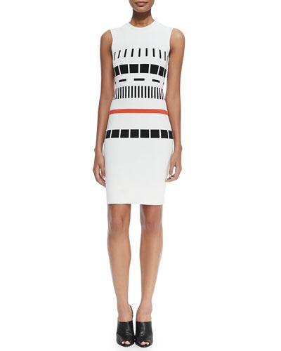 Sleeveless Reversible Graphic Dress