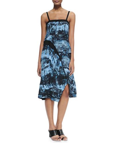 Scissor-Hem Dress W/ Cami Straps