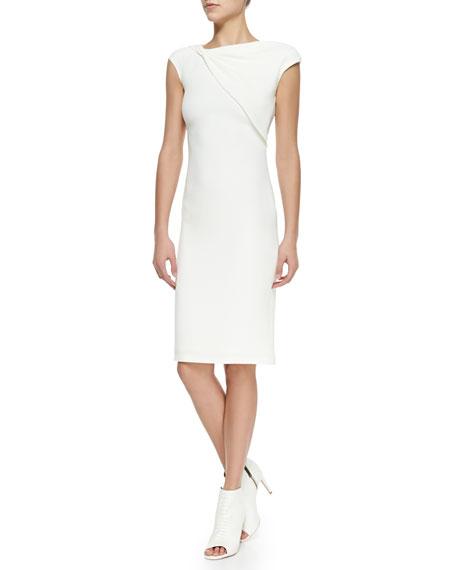 Lawson Twist Neck Silk Sheath Dress