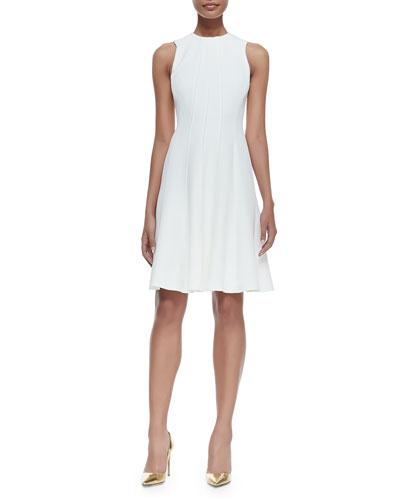 Amarine Sleeveless Fit-and-Flare Dress