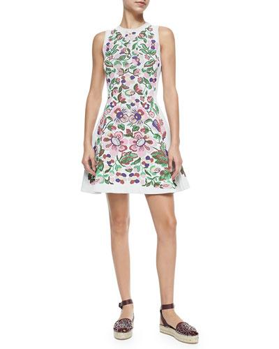 Floral Intarsia Dress