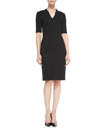 Milano Pique Knit Sheath Dress