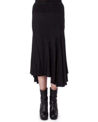 Gonna Moody Asymmetric Knit Skirt