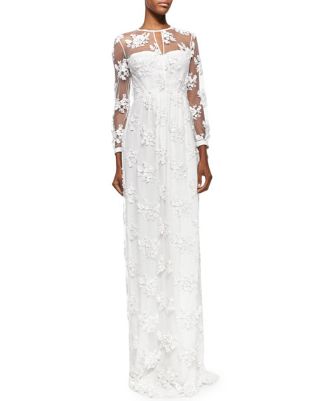 Burberry prorsum embroidered flower lace dress white mightylinksfo