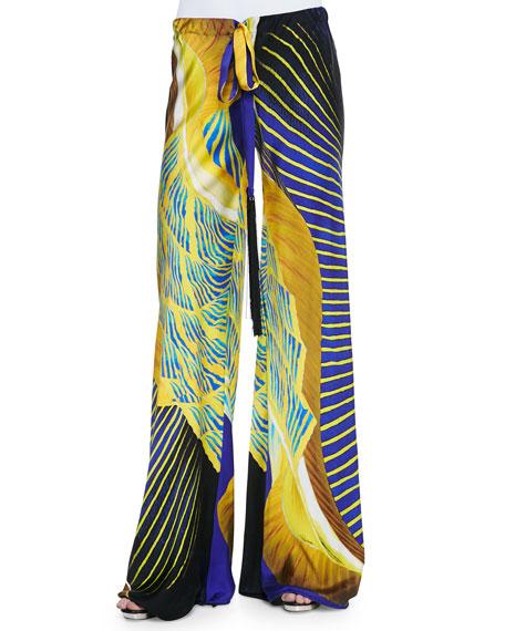 drawstring palazzo pants - Blue Roberto Cavalli YmpACHWz