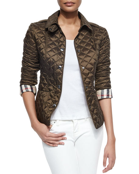 Diamond Quilted Jacket Olive