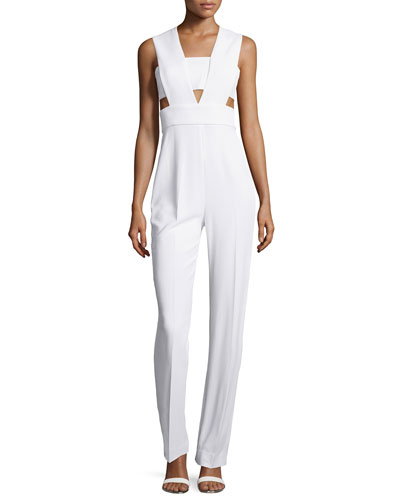 Cutout Crossover Cady Jumpsuit