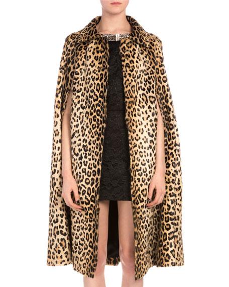 0352d3b1b852 Saint Laurent Leopard-Print Goat Hair Coat