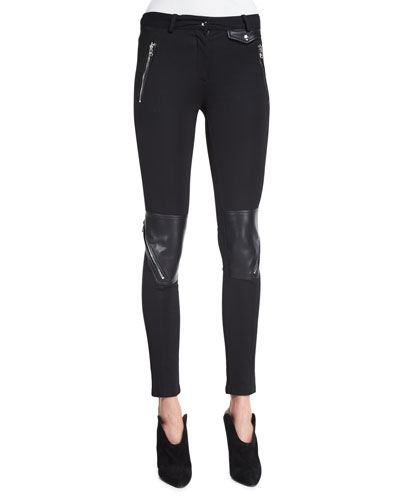 Low-Rise Combo Leggings, Black