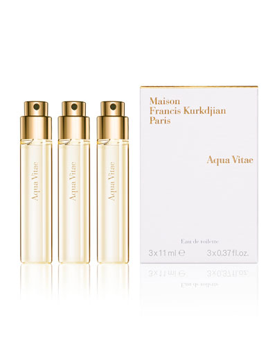 Aqua Vitae Natural Eau de Toilette Spray Refills, 3, 0.37 oz.