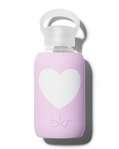 Glass Water Bottle, Juliet Heart, 250 mL