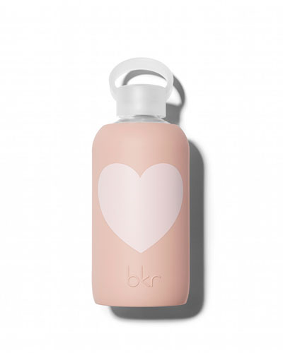Glass Water Bottle, Naked Heart, 500 mL