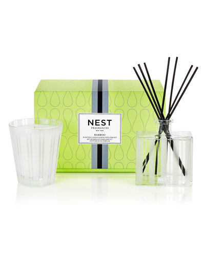 Classic Candle & Reed Diffuser Set - Bamboo ($82 Value)