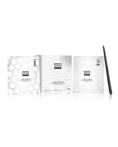 White Marble Bright Face Mask, 4 Pack