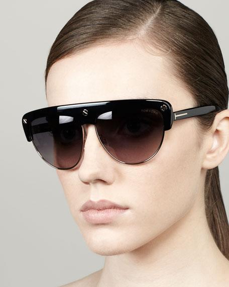 7d218286c8992 TOM FORD Liane Large Square Sunglasses