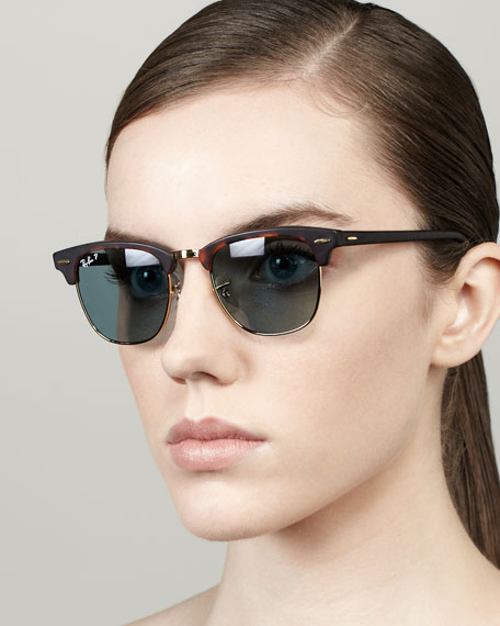 a51c6f5d1c Ray-Ban Polarized Matte Clubmaster Sunglasses