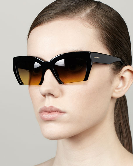 cc1e765ae98 Miu Miu Rasoir Cutoff Square Sunglasses