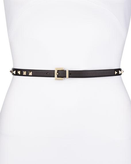 Rockstud skinny leather belt Valentino ZQrgJsPa