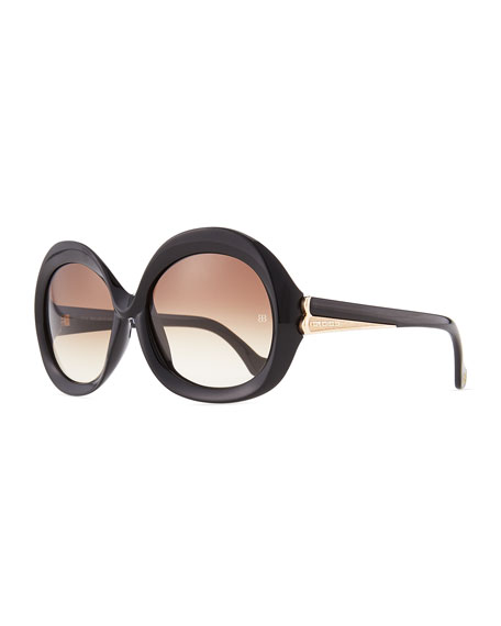 22d61607e9941 Balenciaga Oversized Round Sunglasses