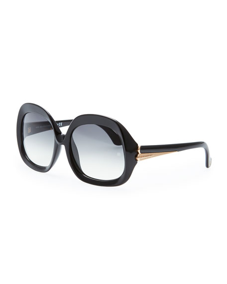 77e990467d9a Balenciaga Oversized Square Sunglasses, Black