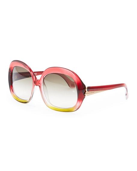 0753ba3ba72be Balenciaga Oversized Square Sunglasses