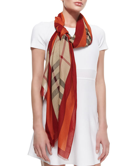 b239521682de Burberry Check Scarf with Border   Equestrian Knight