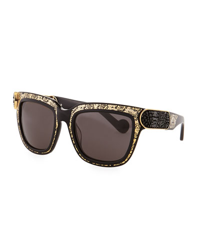Opulence Sunglasses, Gold/Black