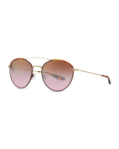448886cff4b1 Barton Perreira Universal Fit Gamine Round Aviator Sunglasses