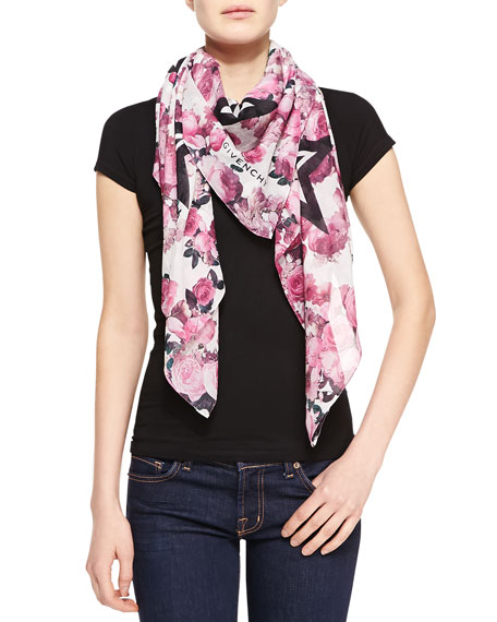 star print scarf - Pink & Purple Givenchy S587yX