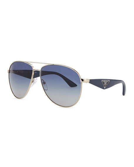 fb9b0169ffc Prada Double Bar Aviator Sunglasses