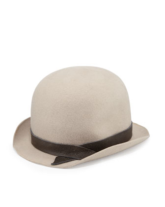 Brunello Cucinelli  Felted Wool Bowler Hat